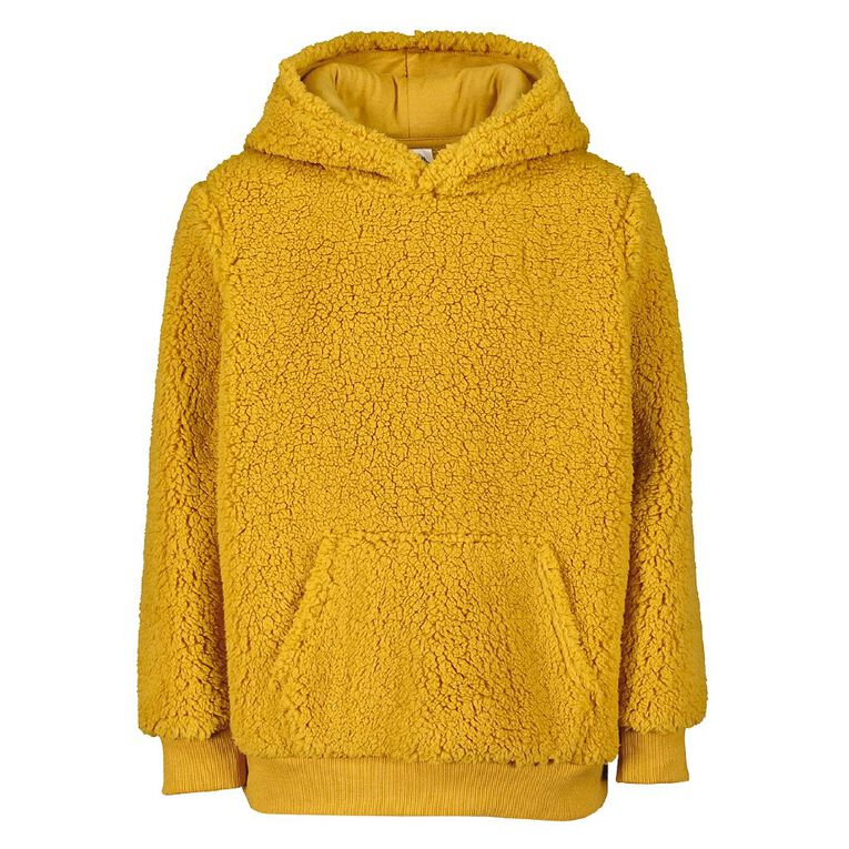 Young Original Sherpa Pull Over Hooded Sweatshirt, Yellow Mid, hi-res