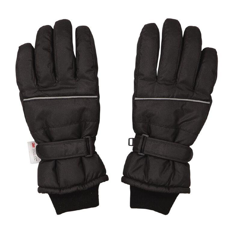 H&H Ski Gloves, Black, hi-res