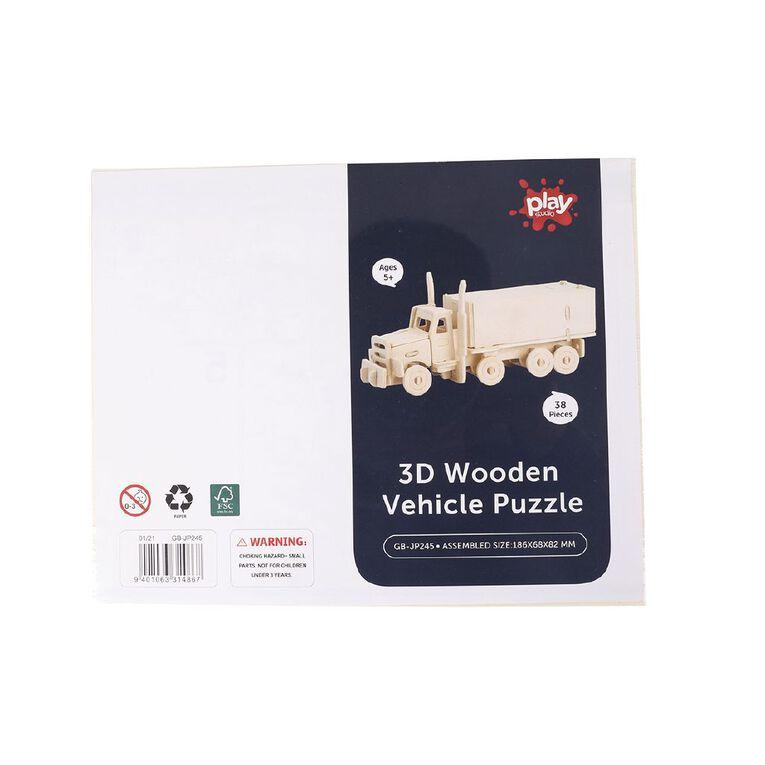 Play Studio 3D Wooden Puzzle Vehicle Assorted, , hi-res