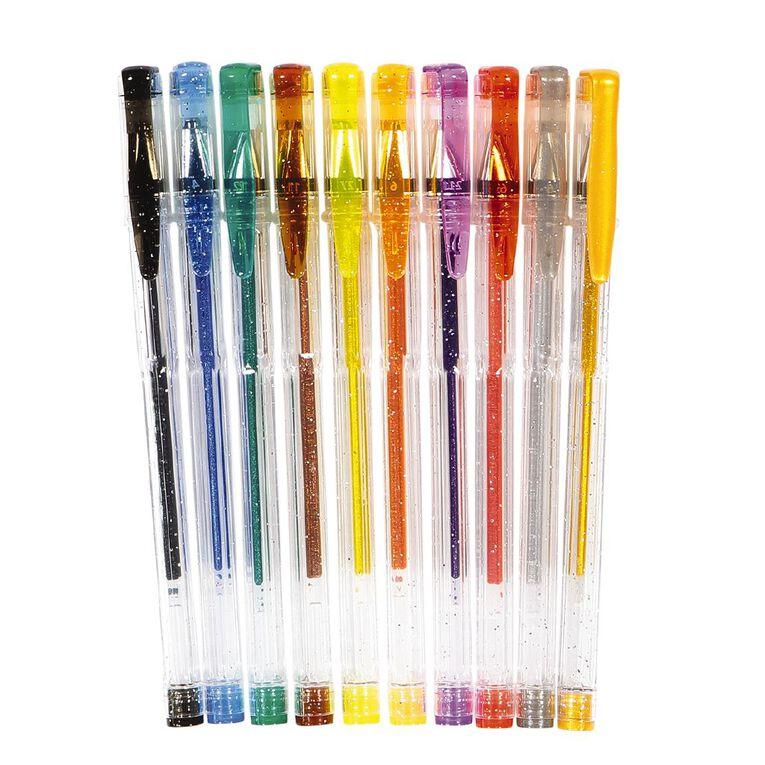 WS Gel Pens Sparkle Mixed Assortment 10 Pack, Mixed Assortment, hi-res