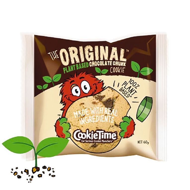 Cookie Time Plant Based Original Chocolate Chunk Cookie 60g, , hi-res