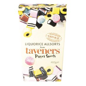 Taveners Liquorice Allsorts Box 400g