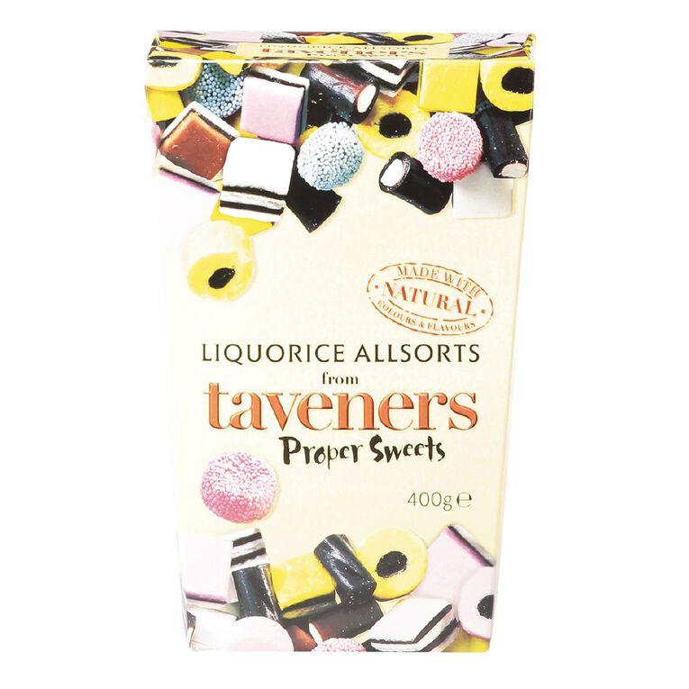 Taveners Liquorice Allsorts Box 400g, , hi-res