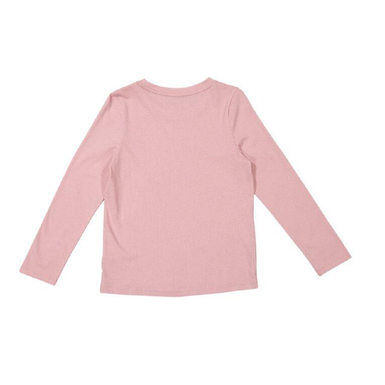 Young Original Girls' Long Sleeve Print Tee, Pink Light, hi-res