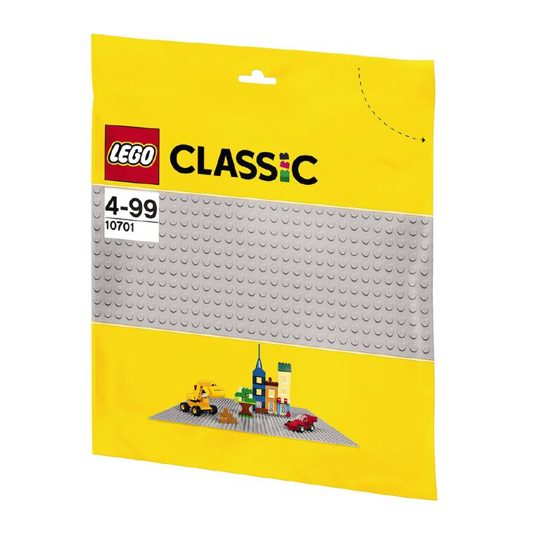 LEGO Classic Gray Baseplate 10701, , hi-res