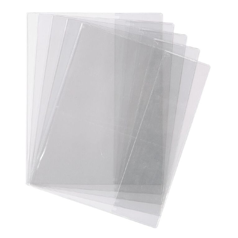 WS Book Sleeve Clear 1B5 5 Pack, , hi-res