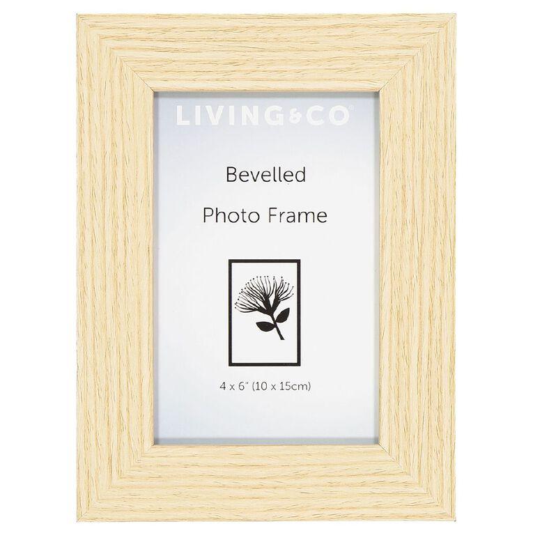 Living & Co Frame Tuscan Oak Brown 5in x 7in, Brown, hi-res