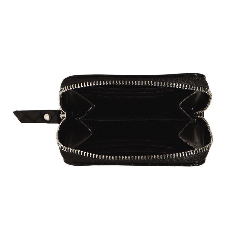 H&H Weave Purse, Black, hi-res