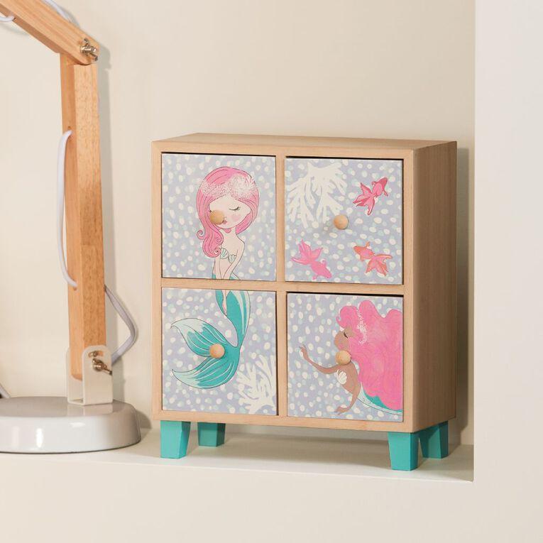 Living & Co Mermaid Trinket Drawers Multi-Coloured, , hi-res image number null