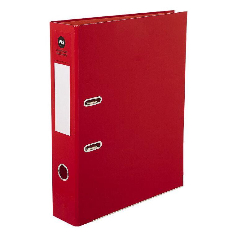 WS Foolscap Lever-Arch Red, , hi-res