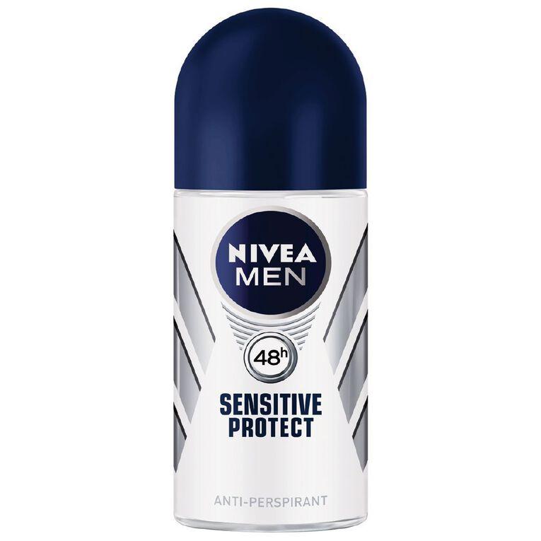 Nivea For Men Roll On Deodorant Sensitive Protect 50ml, , hi-res