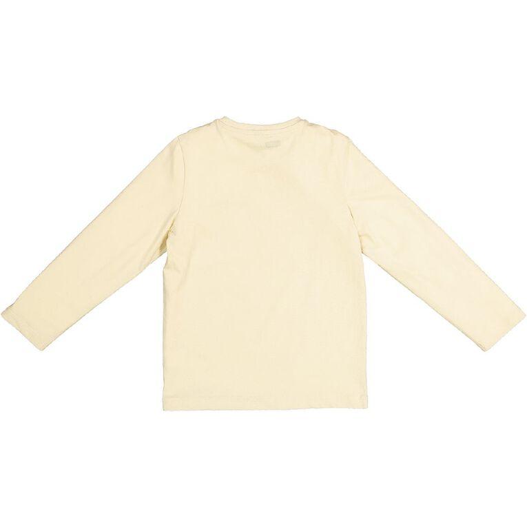Young Original Long Sleeve Print Tee, Cream, hi-res