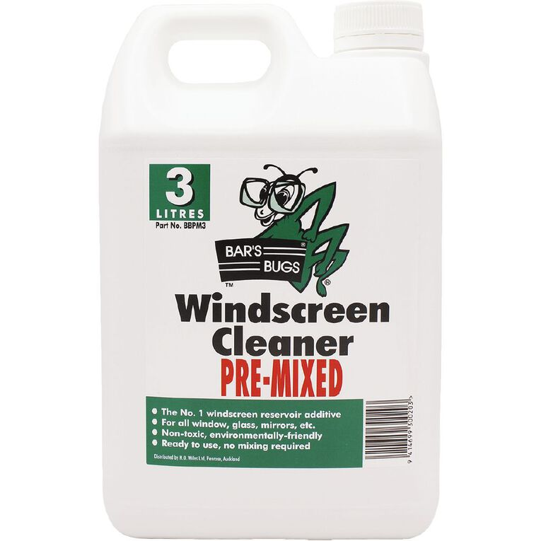 Bar's Bugs Pre-Mixed Windscreen Cleaner 3L, , hi-res image number null