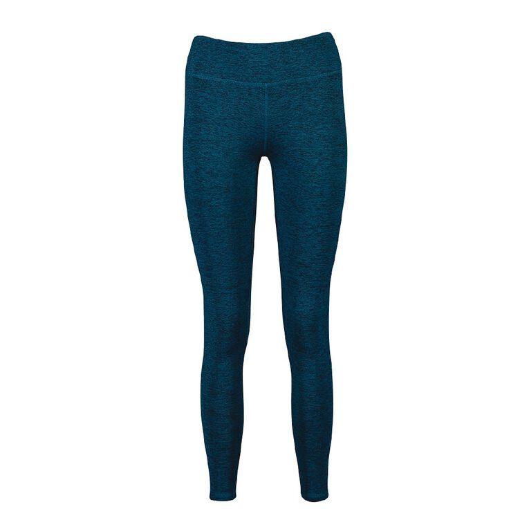 Active Intent Women's Fleece Full Length Leggings, Blue Dark, hi-res