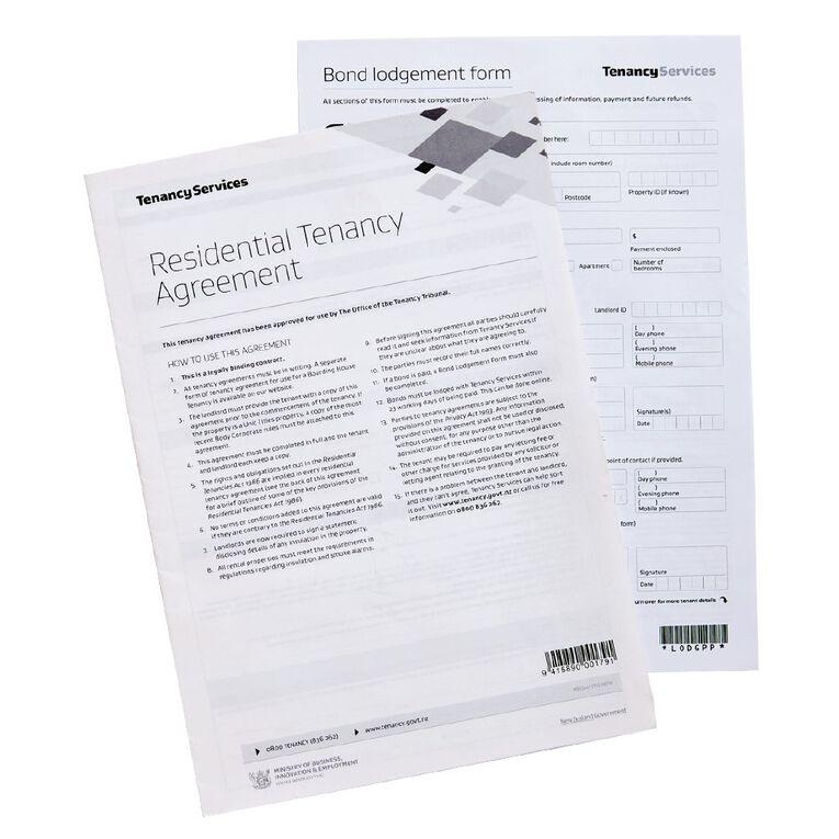 Tenancy Agreement Residential White, , hi-res
