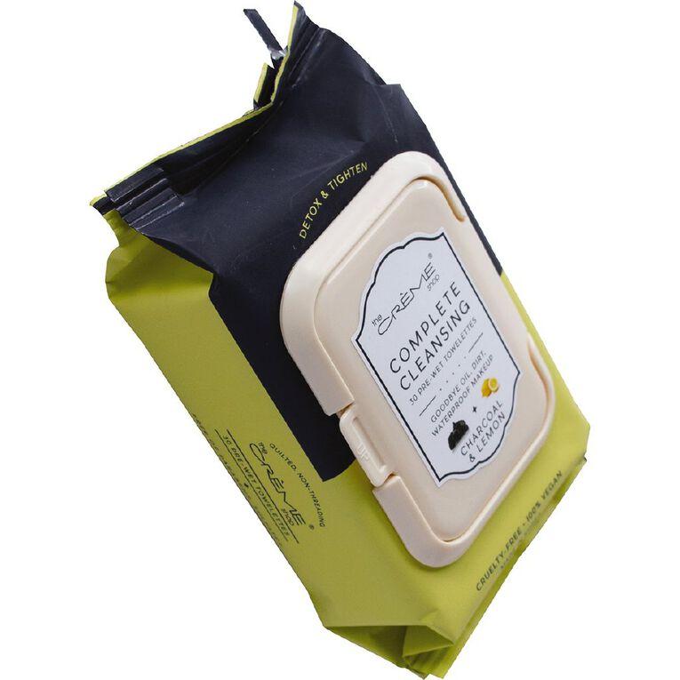 The Creme Shop Fusion Charcoal Lemonade Cleansing Towelettes 30 Pack, , hi-res