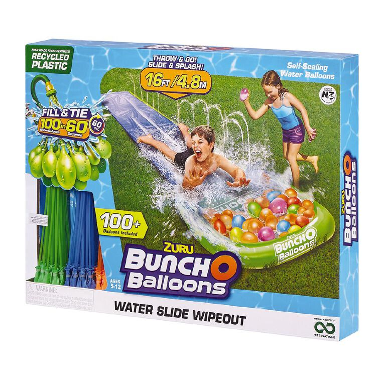 Zuru BUNCH O BALLOONS-Water Slide Small 1 Lane + 3 Bunches, , hi-res image number null