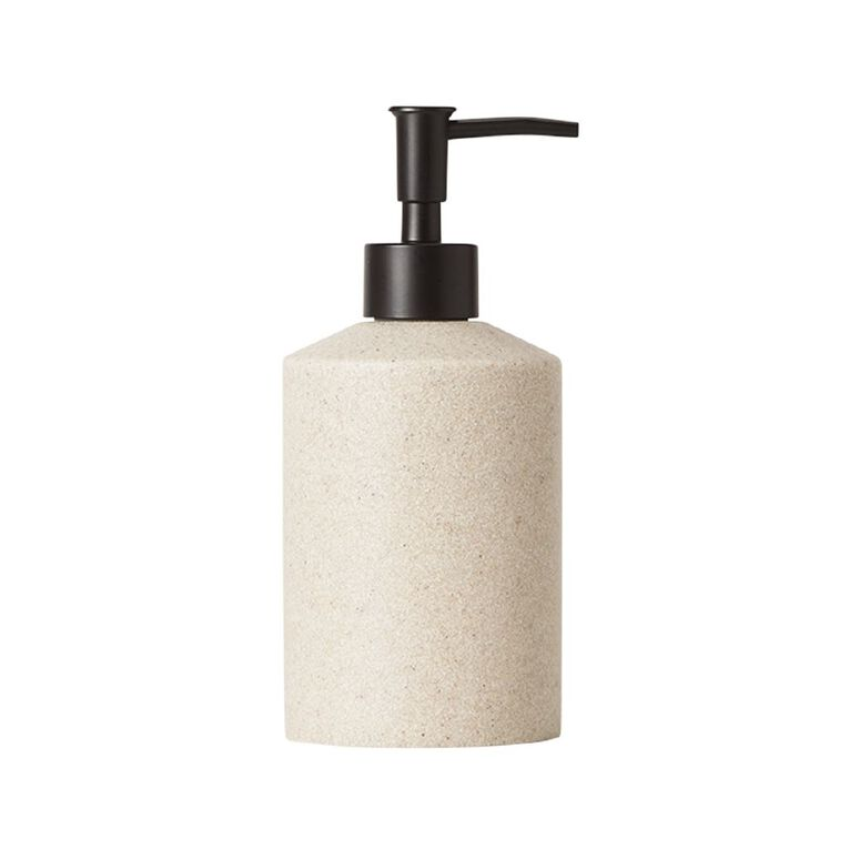 Living & Co Soap Dispenser Stonelook Cream 300ml, Cream, hi-res