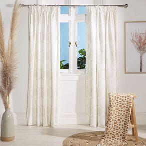 Living & Co Casablanca Curtains Natural 230-330cm Wide/160cm Drop