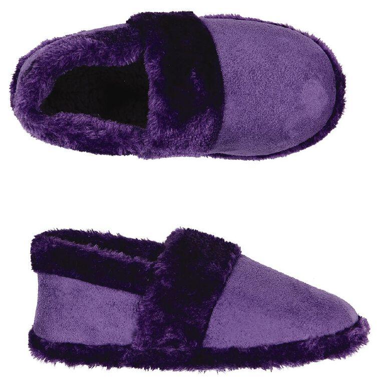 H&H Women's Joy Slippers, Purple, hi-res