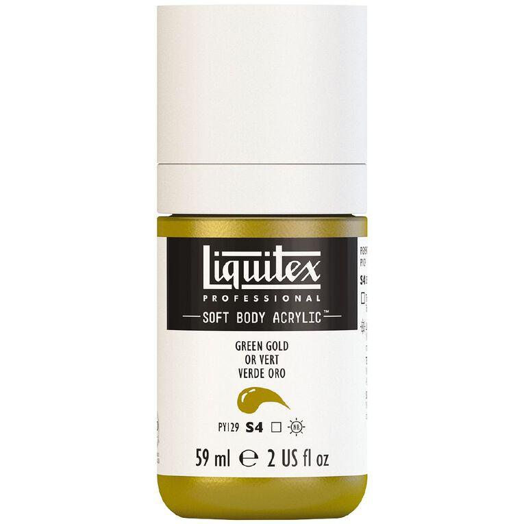 Liquitex Soft Body Acrylic 59ml Green Gold S4, , hi-res