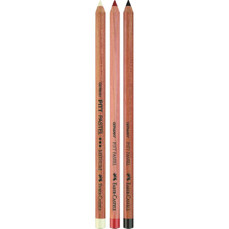 Faber-Castell Pitt Pastel Pencils 3 Pack, , hi-res