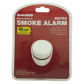 CodeRED Mini 10 Year Photoelectric Smoke Alarm 1 Pack