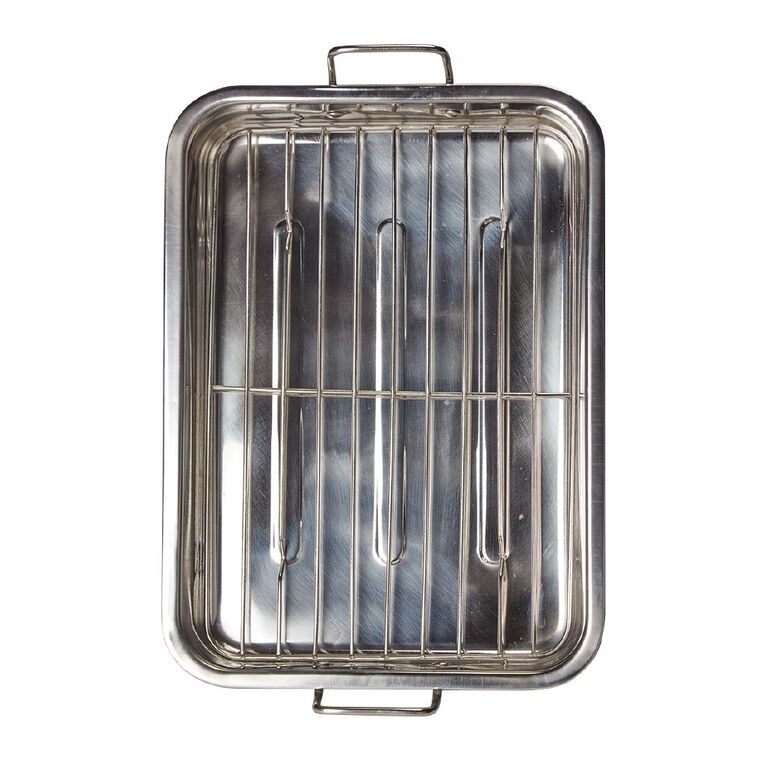 Living & Co Stainless Steel Roaster with Grill Large, , hi-res
