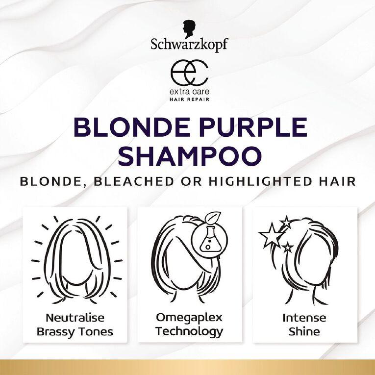 Schwarzkopf Extra Care Blonde Purple Shampoo 250ml, , hi-res