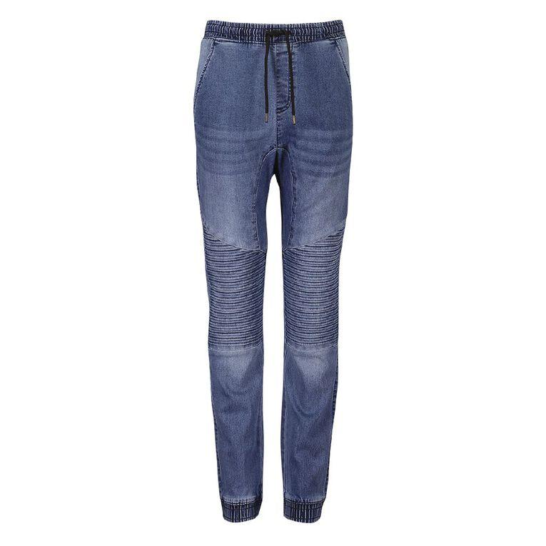 Young Original Boys' Pintuck Cuff Jeans, Blue Light, hi-res