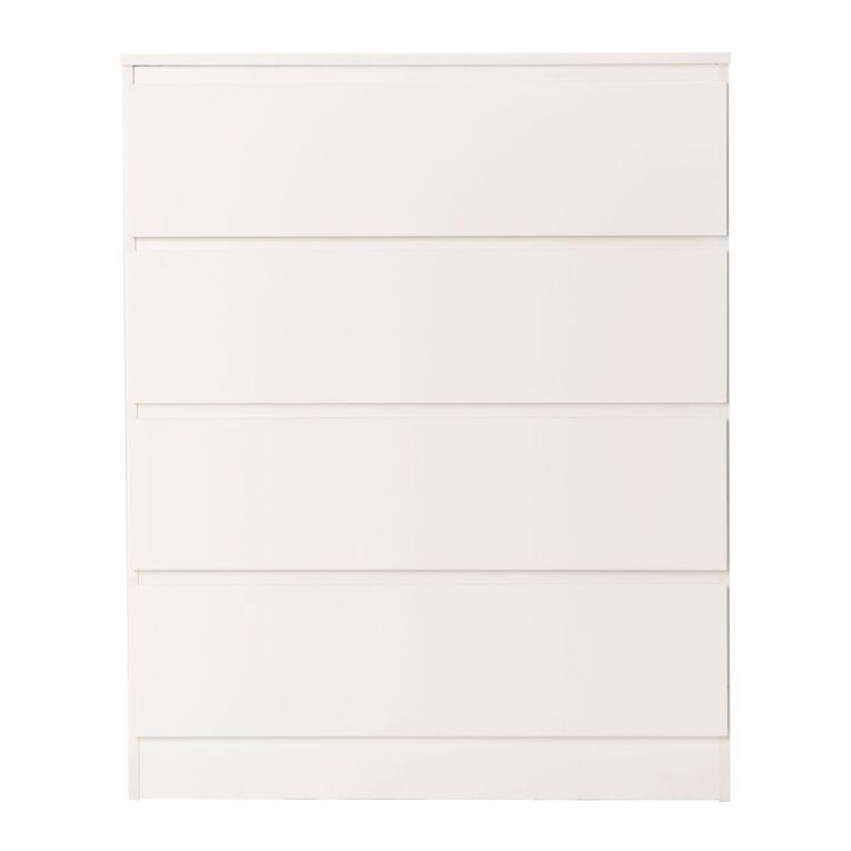 Living & Co Whistler Tallboy 4 Drawer White, , hi-res image number null