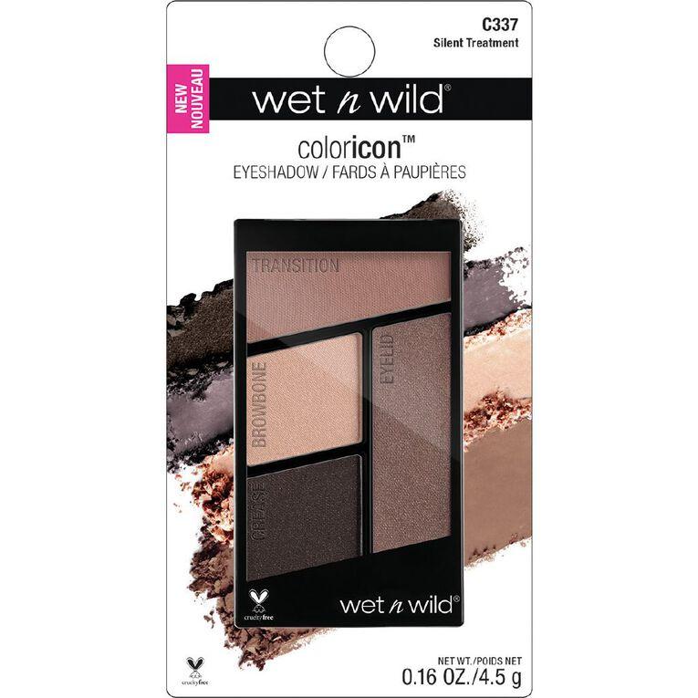Wet n Wild Color Icon Eyeshadow Quad  Silent Treatment, , hi-res