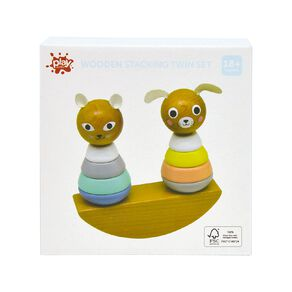 Play Studio Wooden Stacking Twin Set