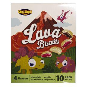 Oki Doki Lava Biscuits 10 Pack