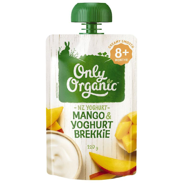 Only Organic Stage 3 Mango Yoghurt 120g, , hi-res
