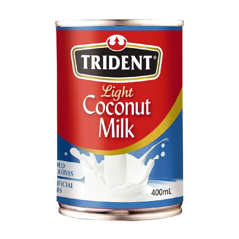 Trident Light Coconut Milk 400ml, , hi-res