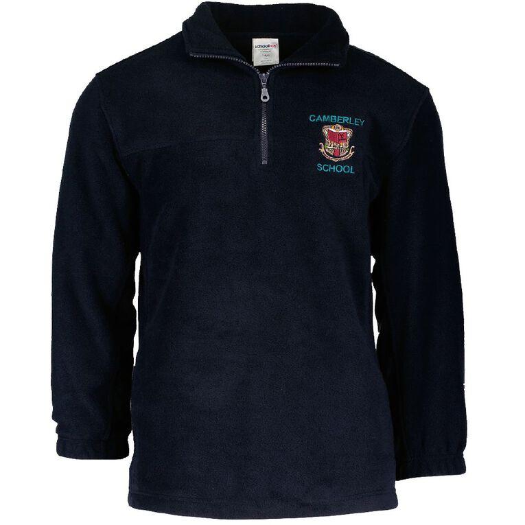 Schooltex Camberley New Polar Fleece Top with Embroidery, Navy, hi-res