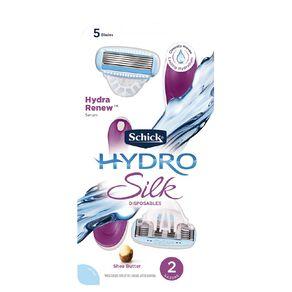 Schick Hydro Silk Women's Disposable Razors 2 Pack