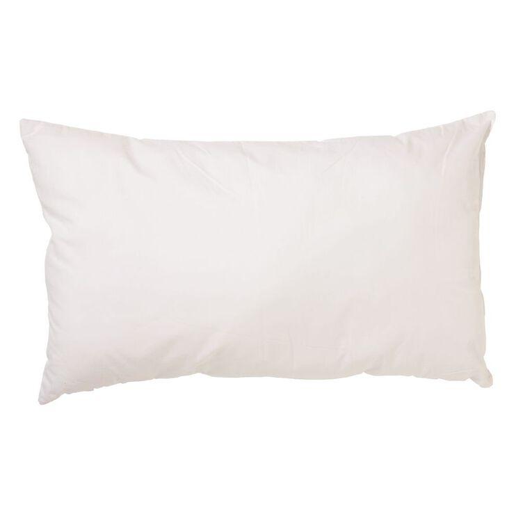 Living & Co Pillow Cotton Rich White 72cm x 44cm, White, hi-res