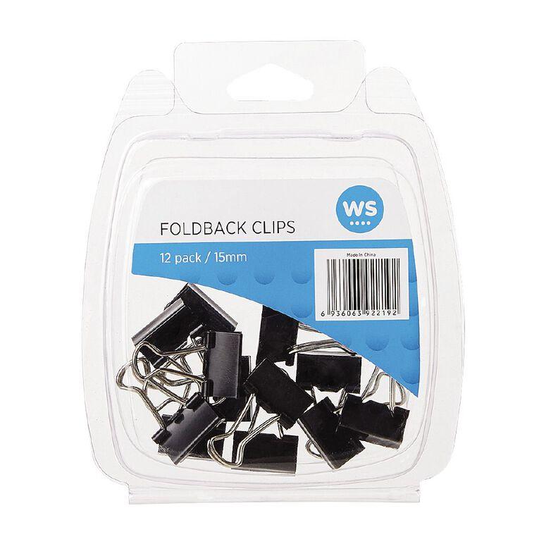 WS Foldback Clips 15mm 12 Pack, , hi-res