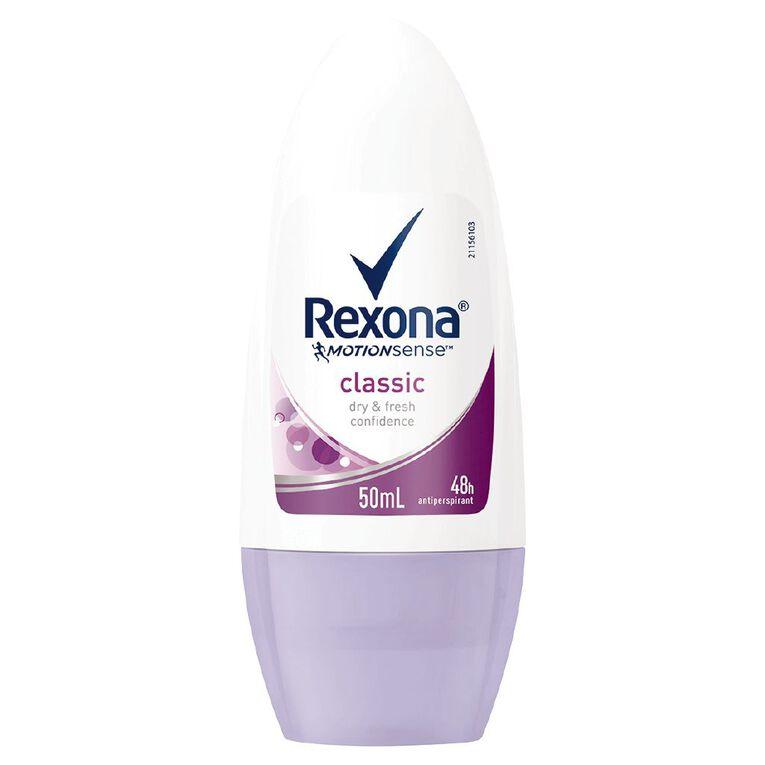 Rexona Women's Roll On Classic 50ml, , hi-res