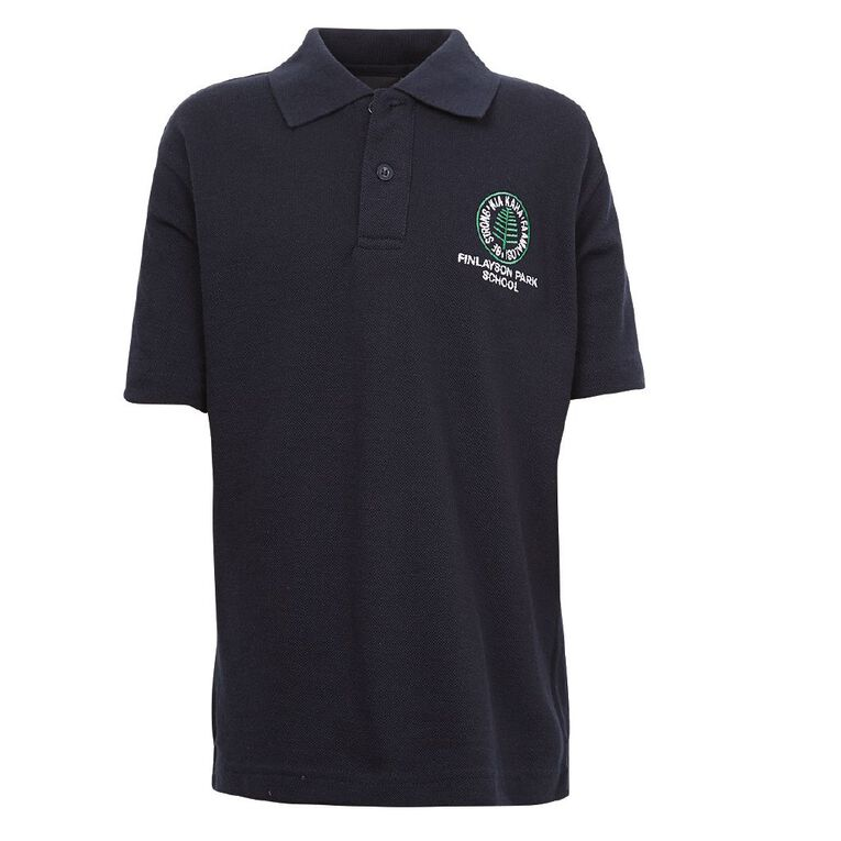 Schooltex Finlayson Park Polo with Embroidery, Navy, hi-res