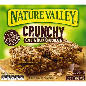 Nature Valley Crunchy Dark Chocolate 6 Pack 252g
