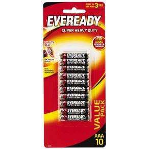 Eveready Super Heavy Duty Batteries AAA 10 Pack
