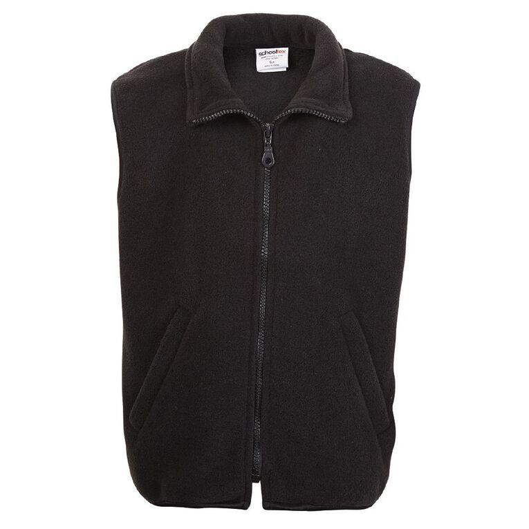 Schooltex Kids' Sleeveless Vest, Black, hi-res
