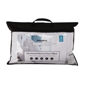 Living & Co Pillow Supportive Gel Infused Memory Cluster White