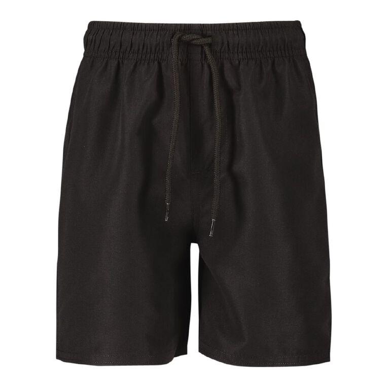 Young Original Boys' Microfibre Shorts, Black, hi-res