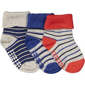 H&H Infants' Turn Top Bootie Socks 3 Pack
