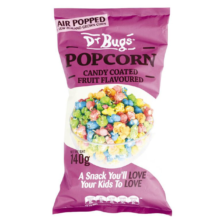 Dr Bugs Candy Coated Popcorn 140g, , hi-res