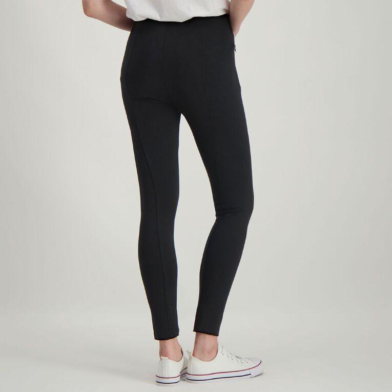 H&H Women's Ponti Pull On Pants, Black, hi-res